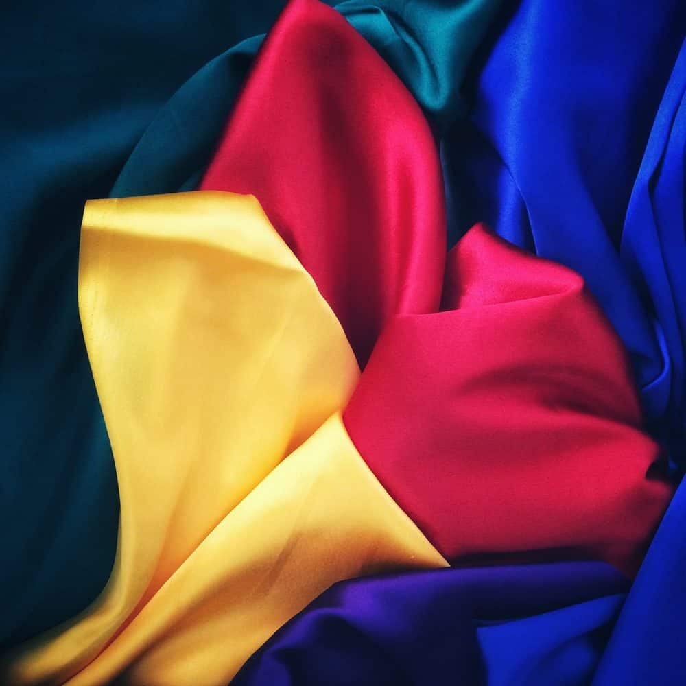 colourful silk sheets
