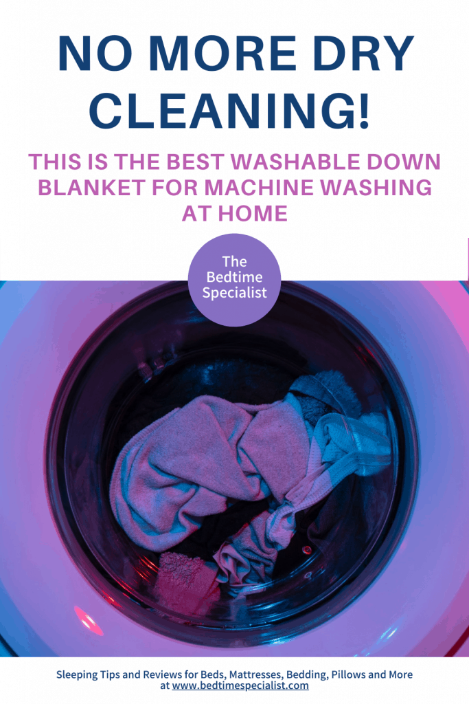 No More Dry Cleaning! This Is The Best Washable Down Blanket For Machine Washing At Home